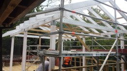 Portland Rd Project. Pergola - during construction